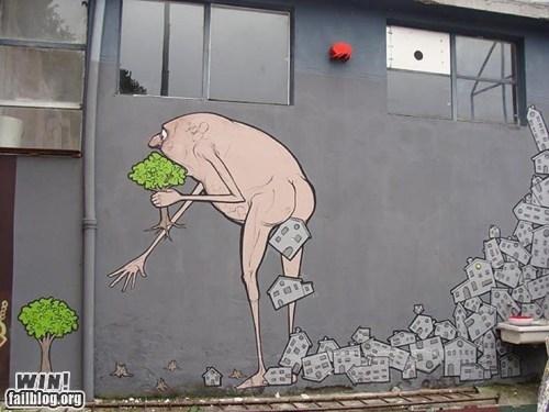 graffiti,hacked irl,social commentary,Street Art,trees
