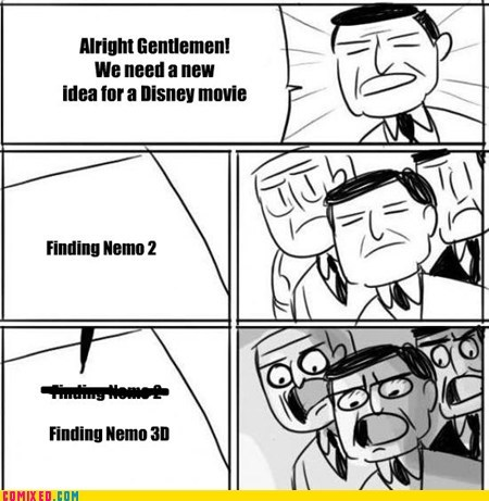 3d,all right gentlemen,disney,finding nemo,movies