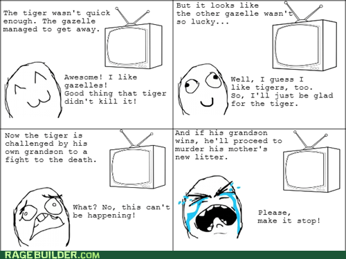 Rage Comics: Whenever I Watch Wildlife Documentaries