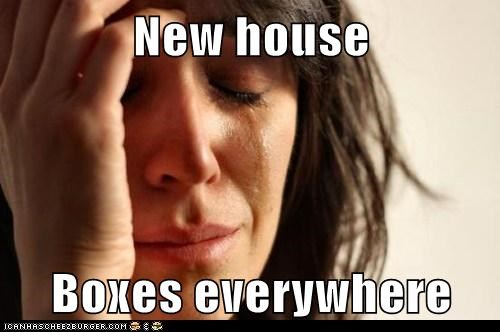 New house  Boxes everywhere