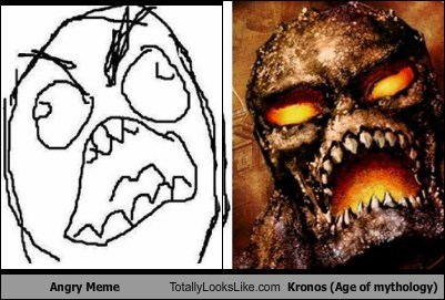Rage Face Meme Totally Looks Like Kronos (Age of Mythology)