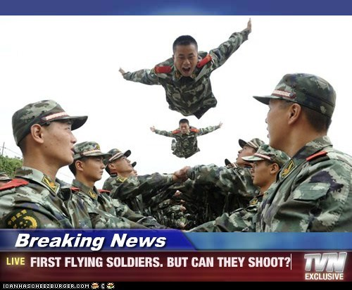 Breaking News - FIRST FLYING SOLDIERS. BUT CAN THEY SHOOT?