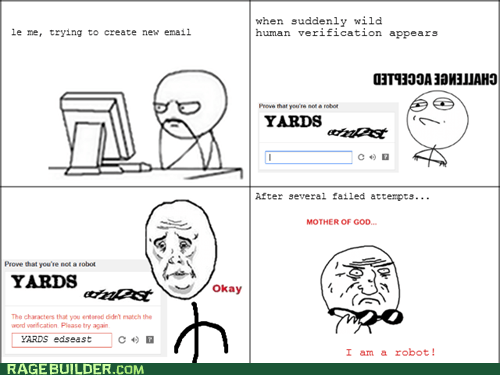Rage Comics: When Trying to Create a New Email Account