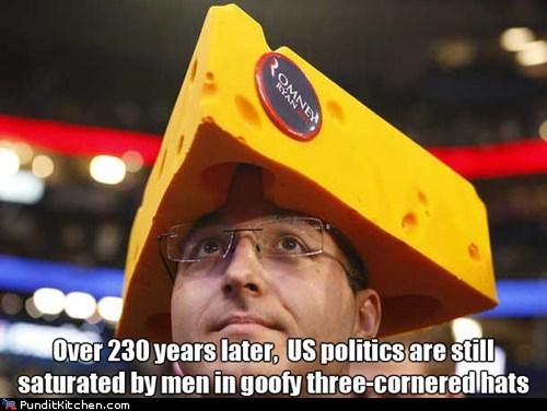 cheese,goofy,hats,politics,rnc