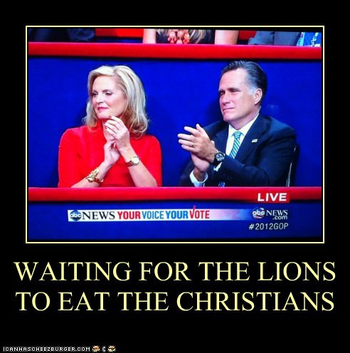 WAITING FOR THE LIONS TO EAT THE CHRISTIANS