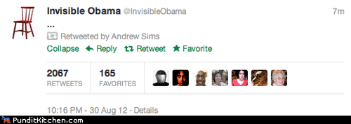 But What Does Invisible Obama Have to Say?
