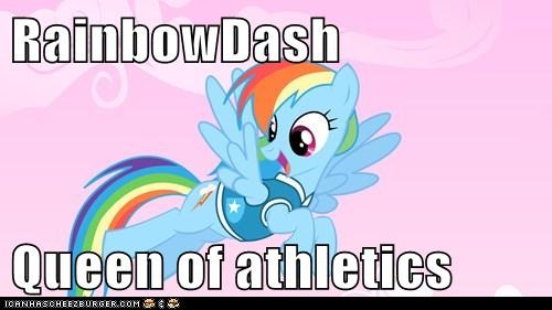 RainbowDash   Queen of athletics