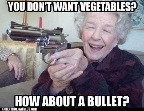 C'mon Grandma, Put the Gun Down, You're Having a Senior Moment