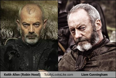 Keith Allen (Robin Hood) Totally Looks Like Liam Cunningham (Game of Thrones)