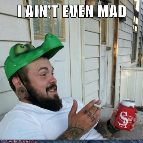 crocodile hat,i aint even mad,smoking