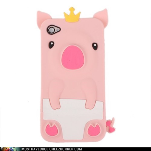 case,crown,iphone,pig