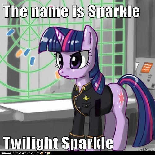 The name is Sparkle  Twilight Sparkle
