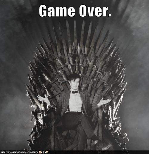 doctor who,Game of Thrones,game over,iron throne,Matt Smith,the doctor
