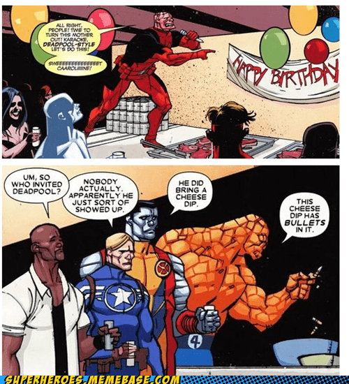 deadpool,karaoke,off the page,Party