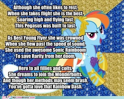 My Little Poetry: Rainbow Dash