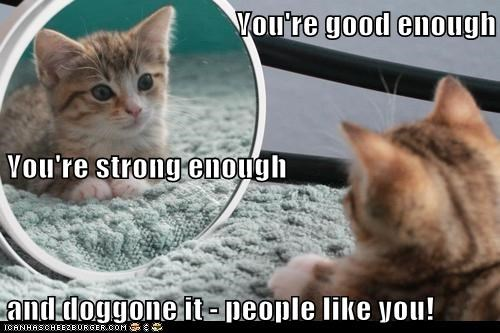 You're good enough You're strong enough and doggone it - people like you!
