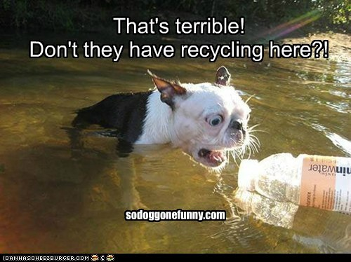 That's terrible!  Don't they have recycling here?!