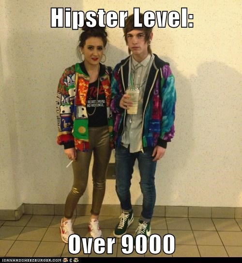 hipsters,over 9000,scouter,vintage