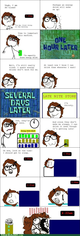 studying,caffeine,vicious cycle,tired,sleep,energy drinks