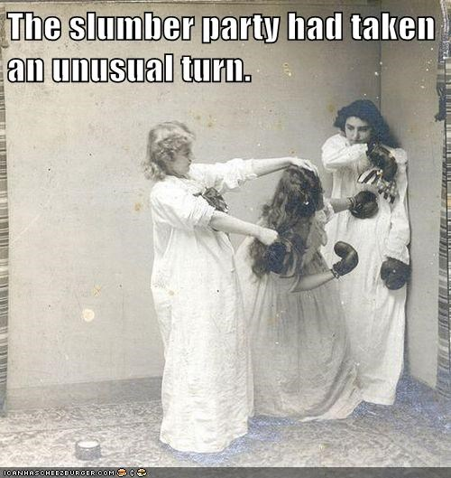 boxing gloves,fight,girls,nightgowns,wtf