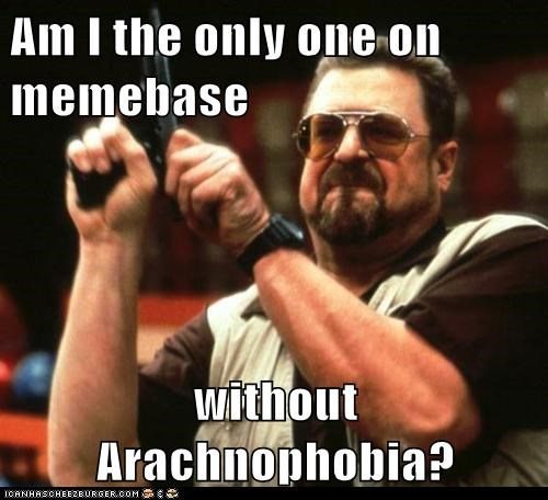 Am I the only one on memebase  without Arachnophobia?