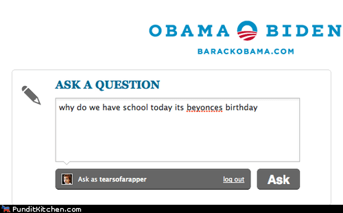 Asking Obama the Important Questions