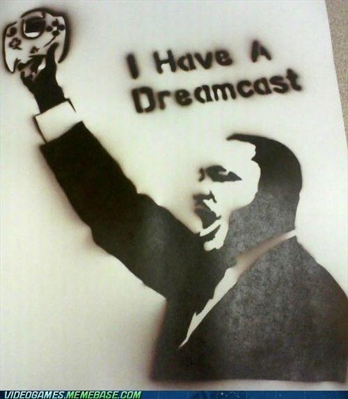 dreamcast,I have a dream,martin luther king jr,online gaming,sega