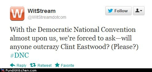 Clint Eastwood,crazy,dnc,please,tweet