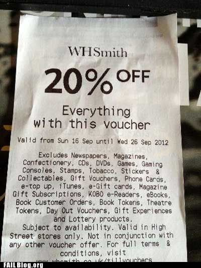 Coupon FAIL