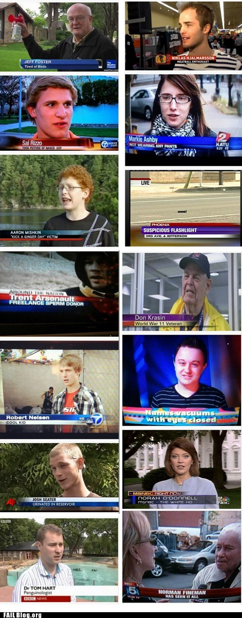 FAIL Nation: TV Reporting FAILs