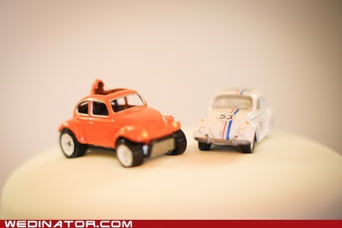 bug,cake,car,herbie,topper