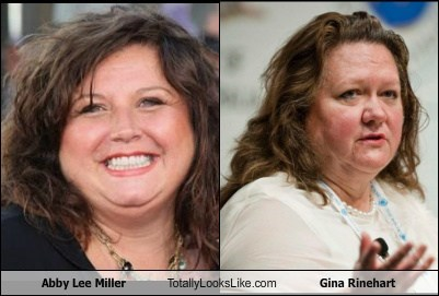 Abby Lee Miller Totally Looks Like Gina Rinehart
