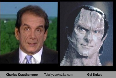Totally Looks Like: Charles Krauthammer Totally Looks Like Gul Dukat