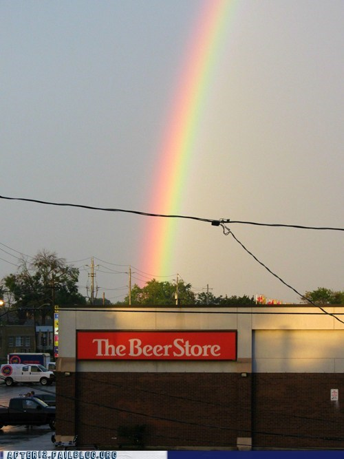 beer store,god bless you,rainbow