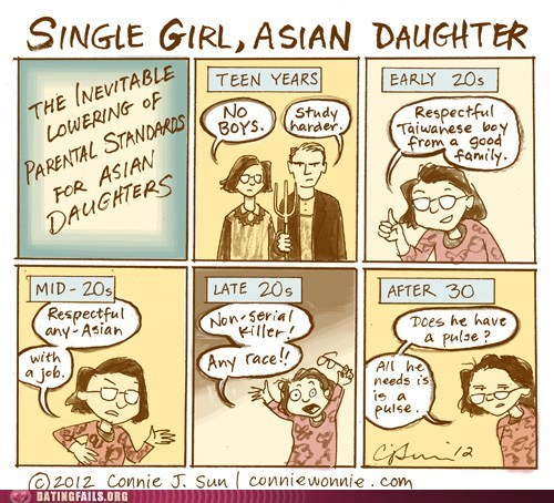 asian daughter,single girl,standards