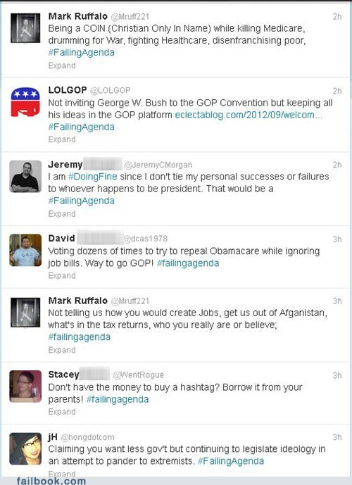 Twitter Trends: #FailingAgenda