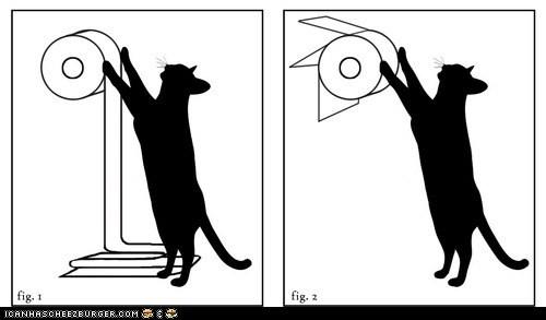 Cats,destruction,illustrations,over,toilet paper,under