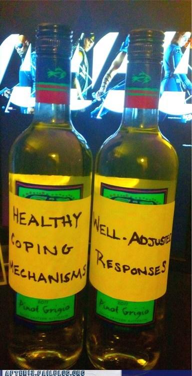 alcohol,coping mechanism,pinot grigio,white wine,wine