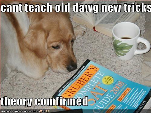 cant teach old dawg new tricks  theory comfirmed
