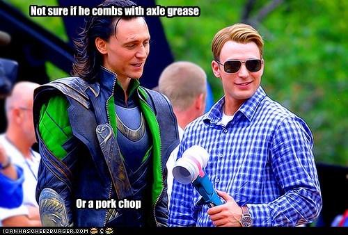 actor,celeb,chris evans,funny,loki,Movie,summer blockbusters,The Avengers,tom hiddleston