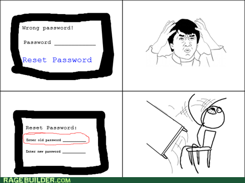 Reset Password RAGE