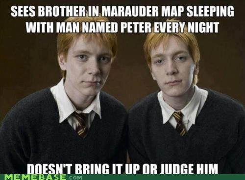 Memebase: Good Guys Fred and George Weasley
