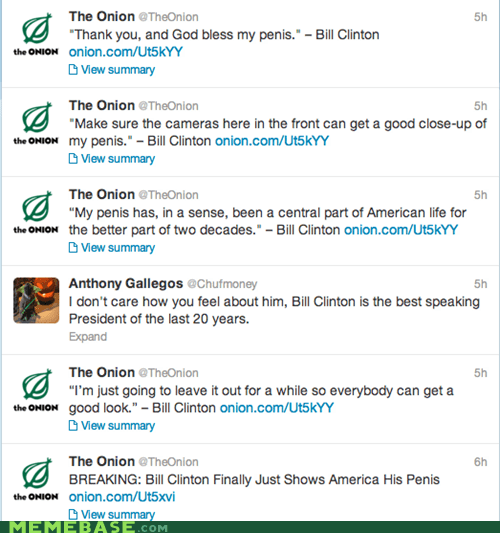 clinton,that sounds naughty,the onion,twitter