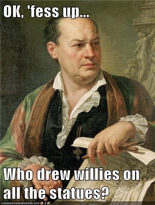 art,naughty,prank,statues,willies