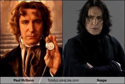 Paul McGann Totally Looks Like Alan Rickman as Severus Snape