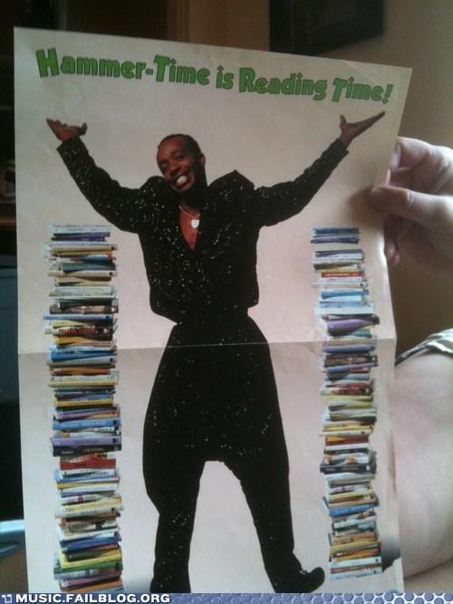 books,m-c-hammer,poster,reading