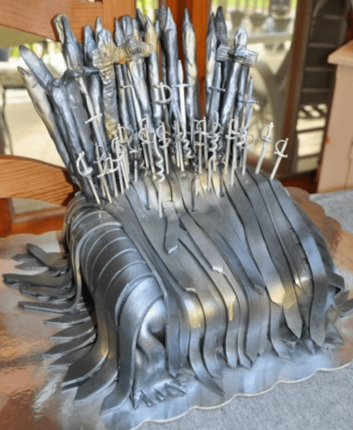a song of ice and fire,cake,Game of Thrones,iron throne