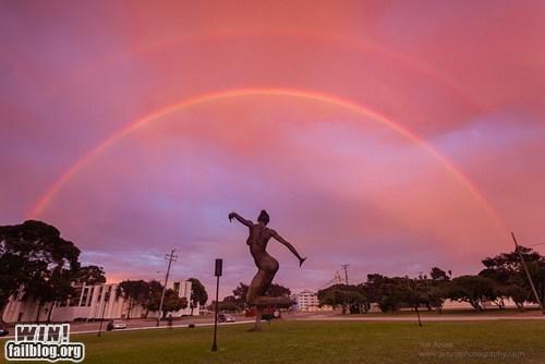 destination win,double rainbow,mother nature ftw,rainbow,sunset,wincation