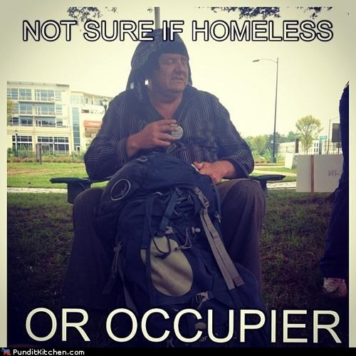 confused,dnc,homeless,not sure if,occupy,protester