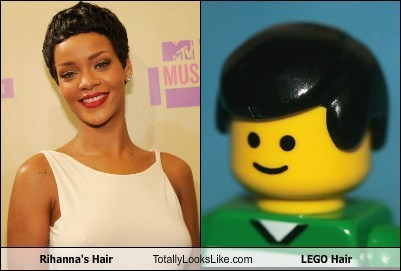 Rihanna's Hair Totally Looks Like LEGO Hair